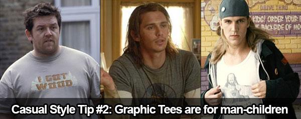 Conseil de style décontracté #2 : Les t-shirts graphiques vous font ressembler à un homme-enfant