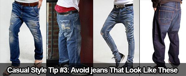 Conseil de style décontracté #3 : Evitez les jeans qui ressemblent à ceux-ci