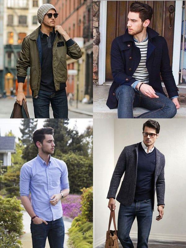 Hommes décontractés en jeans