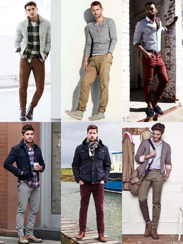 Pantalons chinos décontractés
